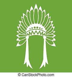 Indian headdress icon green