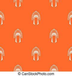 Indian headdress pattern seamless - Indian headdress pattern...