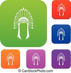 Indian headdress set collection