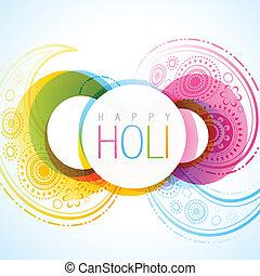 indian holi festival - vector indian festival holi...