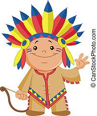 Indian kid waving hello