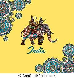 Indian maharaja sitting on elephant