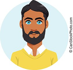 Indian Man Avatar Portrait