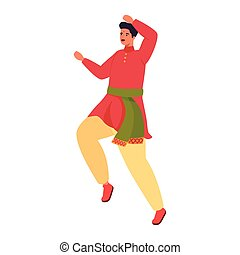 Indian man cartoon dancing vector design