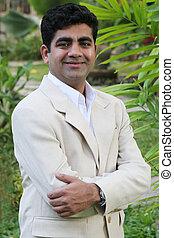 Indian man - Indian businessman in a linen suit
