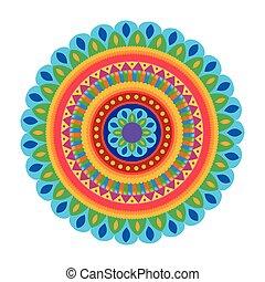 indian mandala decorative icon