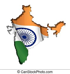 Indian Map-Flag