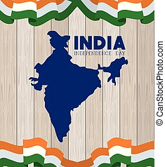 India map indian cities states and india flag Clip Art Vector