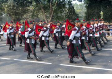 Indian military force at Red Road, Kolkata