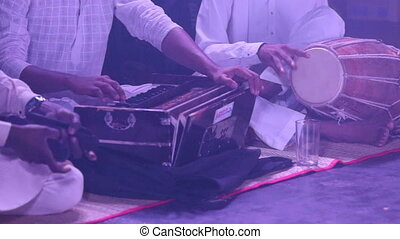 Indian musicians play traditional musical