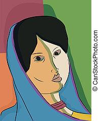 Indian Muslim Woman