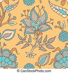 Indian National paisley ornament for cotton, linen fabrics. ...