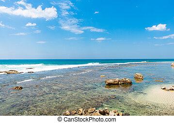 Indian Ocean coast on Sri Lanka