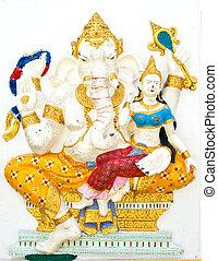 Indian or Hindu ganesha God Named Shakti Ganapati at temple...