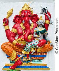 Indian or Hindu ganesha God Named Vara Ganapati at temple in...