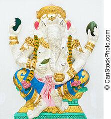 Indian or Hindu God Named Bhakti Ganapati at Wat Saman, Chachoengsao, Thailand