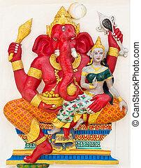 Indian or Hindu God Named Vara Ganapati at temple in thailand
