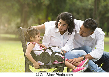 indian parent dealing with daughter with tantrum