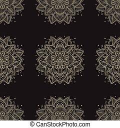 Indian pattern. Arabic oriental motifs.