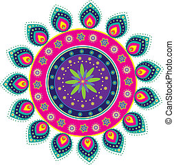 Indian pattern - Stock Vector Illustration: Colorful Indian ...