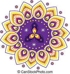 Indian pattern - Stock Vector Illustration: Colorful Indian...