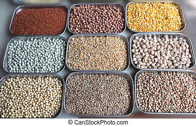 Indian pulses and cereals