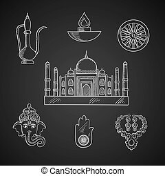 Indian religion and culture symbols