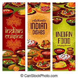 Indian restaurant, India traditional food dishes