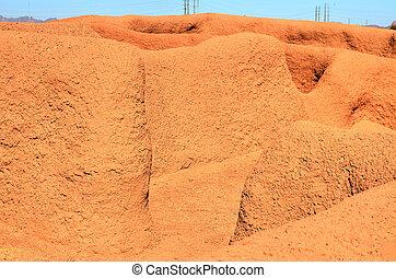 Indian ruin walls - Casa Grande National Monument ruin walls...