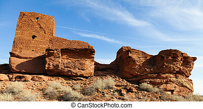 Indian ruins - Wupatki National Monument on the Colorado ...