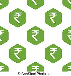 Indian rupee pattern