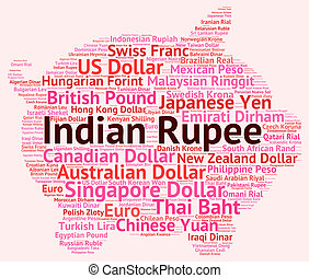 Indian Rupee Shows Worldwide Trading And Foreign - Indian ...