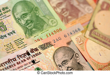 Indian Rupees - Different Indian rupee currency notes ...