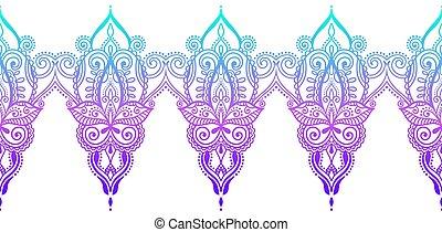 indian seamless paisley pattern, henna mehndi design