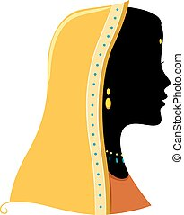 Indian Silhouette - Illustration Featuring the Silhouette of...