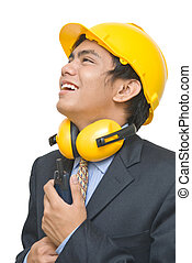 Indian smiling foreman portrait