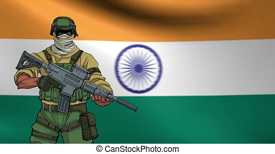 Indian Soldier Background Animation