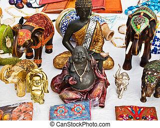 Indian souvenirs in a shop