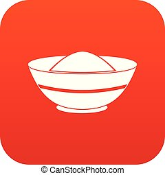 Indian spicy icon digital red