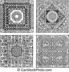 indian style lace pattern