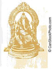 Ganesha - Indian symbols - Statue of Ganesha, the God of...
