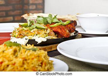indian táplálék, csirke, tandori