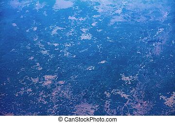 Indian territory near Delhi. View from bird flight