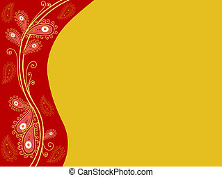 Indian-Themed Background - Background Design Featuring an...