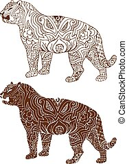 Indian tiger patterns