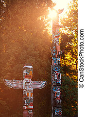 Indian totem poles