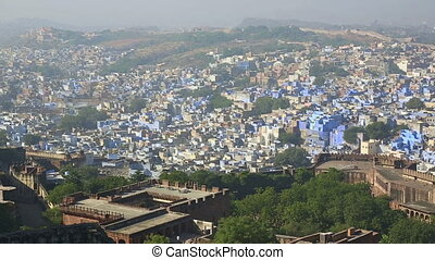 Indian town, Jodhpur. - Panorama of an indian town Jodhpur...