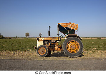 indian tractor with canopy