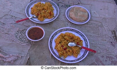 indian veg biryani rice food