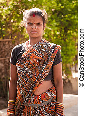 Indian villager woman
